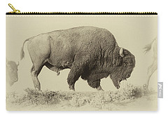 Antique Bison Carry-all Pouch