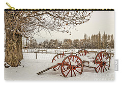 Antique Cart With Snow Carry-all Pouch