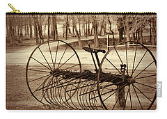 Antique Farm Rake In Sepia Carry-all Pouch by Kathy Clark