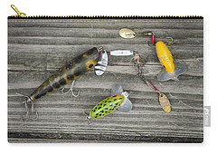 Antique Fishing Lures Carry-all Pouch