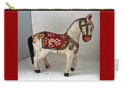 Antique Folk Art Horse Carry-all Pouch by Stephanie Moore