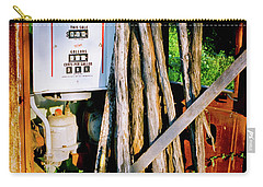 Carry-all Pouch featuring the photograph Antique Gas Pump by Linda Unger