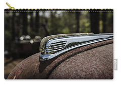 Carry-all Pouch featuring the photograph Antique Hood Ornament by Kim Hojnacki