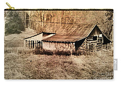 Antique Log Beam Barn Southern Indiana Carry-all Pouch