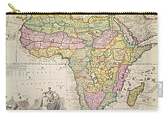 Antique Map Of Africa Carry-all Pouch by Pieter Schenk