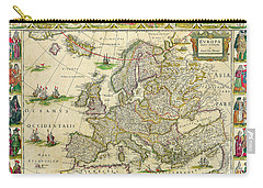 Antique Maps Of The World Map Of Europe Willem Blaeu C 1650 Carry-all Pouch