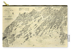 Antique Maps - Old Cartographic Maps - Antique Map Of Casco Bay, Maine, 1870 Carry-all Pouch