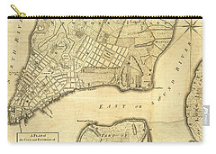 Antique Maps - Old Cartographic Maps - City Of New York And Its Environs Carry-all Pouch