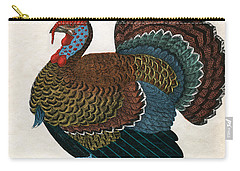 Antique Print Of A Turkey, 1859  Carry-all Pouch