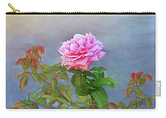Carry-all Pouch featuring the photograph Antique Rose by Ellen Barron O'Reilly