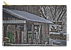 Carry-all Pouch featuring the photograph Antique Shack by Deborah Klubertanz