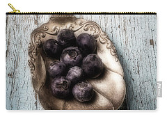 Antique Spoon And Buleberries Carry-all Pouch