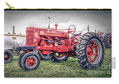 Carry-all Pouch featuring the photograph Antique Tractor Pullers by Marion Johnson