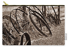 Antique Wagon Wheels II Carry-all Pouch