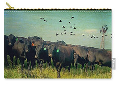 Antiqued Angus Carry-all Pouch