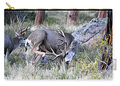 Carry-all Pouch featuring the photograph Antler Scratch by Shane Bechler