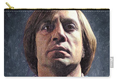 Carry-all Pouch featuring the painting Anton Chigurh by Taylan Apukovska