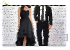 Carry-all Pouch featuring the digital art Antonia And Giovanni by Nancy Levan