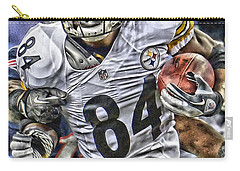 Antonio Brown Steelers Art Carry-all Pouch by Joe Hamilton