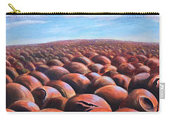 Carry-all Pouch featuring the painting Ant's Eye View Of Sand by Randol Burns