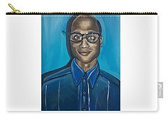 Black Man Artwork Black Nerd Superhero Painting Carry-all Pouch