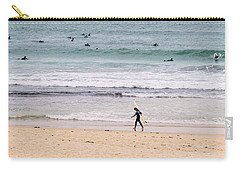 Carry-all Pouch featuring the photograph Any Day's A Good Day To Surf by Linda Lees