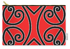 Carry-all Pouch featuring the drawing Aotearoa Koru by Brian Gibbs