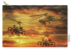 Carry-all Pouch featuring the digital art Apache Attack by Randy Steele