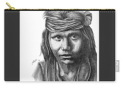 Apache Boy Carry-all Pouch by Lawrence Tripoli