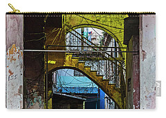 Carry-all Pouch featuring the photograph Apartment Enrance Havana Cuba Near Calle C by Charles Harden