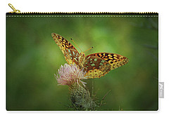 Carry-all Pouch featuring the photograph Aphrodite Fritillary Butterfly by Sandy Keeton