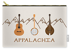 Carry-all Pouch featuring the digital art Appalachia Mountain Music by Heather Applegate