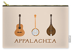 Carry-all Pouch featuring the digital art Appalachia Music by Heather Applegate