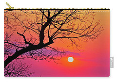 Appalcahian Sunset Tree Silhouette #2 Carry-all Pouch