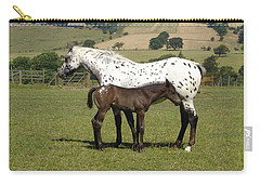 Appaloosa Mare And Foal Carry-all Pouch