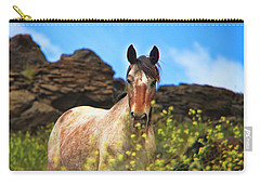 Appaloosa Mustang In The Wild. Carry-all Pouch