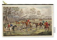Carry-all Pouch featuring the painting Apperley, Charles James The Life Of A Sportsman. By Nimrod. by Artistic Panda