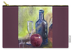 Carry-all Pouch featuring the painting Apple And Wine by Jim Phillips