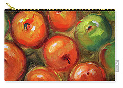 Carry-all Pouch featuring the painting Apple Barrel Still Life by Nancy Merkle