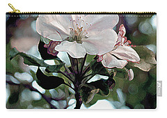 Carry-all Pouch featuring the painting Apple Blossom Time by RC DeWinter