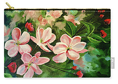 Apple Blossoms  Carry-all Pouch by Alan Lakin