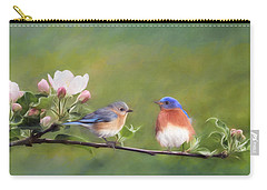 Apple Blossoms And Bluebirds Carry-all Pouch