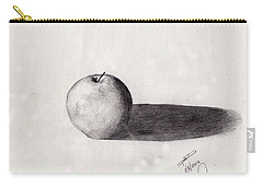 Carry-all Pouch featuring the drawing Apple by David Jackson