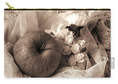 Apple In Sepia Carry-all Pouch