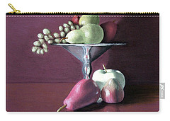Apple  Pears And Grapes Carry-all Pouch