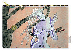 Apple, Snake, Woman -- Eve In Garden Of Eden, #4 In Famous Flirts Series Carry-all Pouch