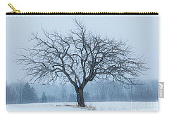 Apple Tree In Snowfall Carry-all Pouch