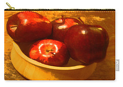 Apples In A Bowl Carry-all Pouch