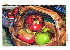 Apples In A Burled Bowl Carry-all Pouch