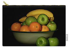 Carry-all Pouch featuring the photograph Apples, Oranges And Bananas 1 by Angie Tirado